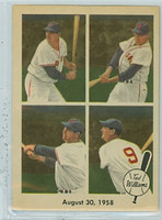 1959 Fleer Ted Williams 65 August 1958 Near-Mint