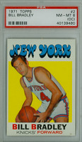 1971 Topps Basketball 2 Bill Bradley New York Knicks PSA 8 OC