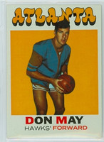 1971 Topps Basketball 6 Don May Atlanta Hawks Excellent to Mint