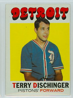 1971 Topps Basketball 8 Terry Dischinger Detroit Pistons Excellent