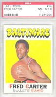 1971 Topps Basketball 14 Fred Carter Baltimore Bullets PSA 8 Near Mint to Mint
