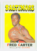 1971 Topps Basketball 14 Fred Carter Baltimore Bullets Excellent to Mint