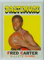 1971 Topps Basketball 14 Fred Carter Baltimore Bullets Near-Mint