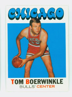 1971 Topps Basketball 15 Tom Boerwinkle Chicago Bulls Near-Mint Plus