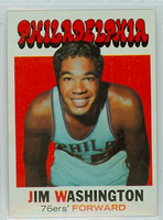 1971 Topps Basketball 28 Jim Washington Philadelphia 76ers Excellent to Mint
