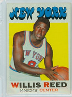 1971 Topps Basketball 30 Willis Reed New York Knicks Near-Mint
