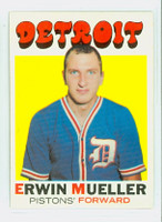 1971 Topps Basketball 31 Erwin Mueller Detroit Pistons Near-Mint Plus
