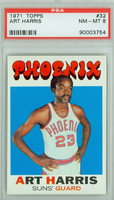 1971 Topps Basketball 32 Art Harris Pheonix Suns PSA 8 Near Mint to Mint