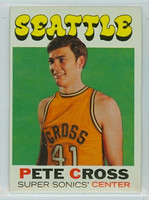 1971 Topps Basketball 33 Pete Cross Seattle Super Sonics Excellent to Excellent Plus