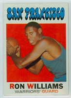 1971 Topps Basketball 38 Ron Williams San Francisco Warriors Near-Mint