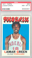 1971 Topps Basketball 39 Lamar Green Pheonix Suns PSA 8 Near Mint to Mint