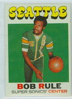 1971 Topps Basketball 40 Bob Rule Single Print Seattle Super Sonics Excellent to Mint