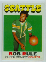 1971 Topps Basketball 40 Bob Rule Single Print Seattle Super Sonics Near-Mint