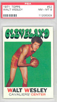 1971 Topps Basketball 52 Walt Wesley Cleveland Cavaliers PSA 8 Near Mint to Mint