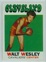 1971 Topps Basketball 52 Walt Wesley Cleveland Cavaliers Excellent to Excellent Plus
