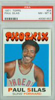 1971 Topps Basketball 54 Paul Silas Pheonix Suns PSA 8 Near Mint to Mint