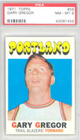 1971 Topps Basketball 56 Gary Gregor Portland Trail Blazers PSA 8 Near Mint to Mint