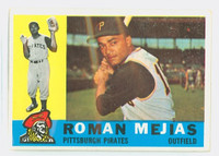 1960 Topps Baseball 2 Roman Mejias Pittsburgh Pirates Very Good to Excellent