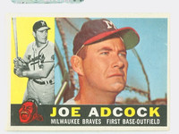 1960 Topps Baseball 3 Joe Adcock Milwaukee Braves Excellent