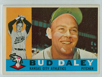1960 Topps Baseball 8 Bud Daley Kansas City Athletics Excellent to Mint