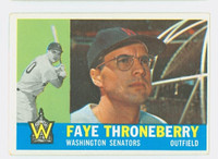1960 Topps Baseball 9 Faye Throneberry Washington Senators Excellent