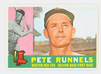 1960 Topps Baseball 15 Pete Runnels Boston Red Sox Excellent to Excellent Plus