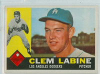 1960 Topps Baseball 29 Clem Labine Los Angeles Dodgers Excellent to Mint