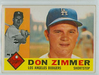 1960 Topps Baseball 47 Don Zimmer Los Angeles Dodgers Excellent to Mint