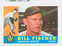 1960 Topps Baseball 76 Bill Fischer Washington Senators Excellent