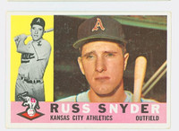 1960 Topps Baseball 81 Russ Snyder Kansas City Athletics Excellent
