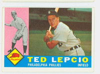 1960 Topps Baseball 97 Ted Lepcio Philadelphia Phillies Excellent