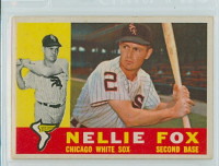 1960 Topps Baseball 100 Nellie Fox Chicago White Sox Very Good to Excellent