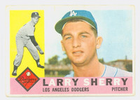 1960 Topps Baseball 105 Larry Sherry ROOKIE Los Angeles Dodgers Very Good