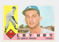1960 Topps Baseball 105 Larry Sherry ROOKIE Los Angeles Dodgers Excellent