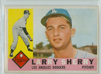 1960 Topps Baseball 105 Larry Sherry ROOKIE Los Angeles Dodgers Excellent to Mint