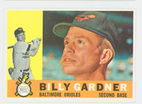 1960 Topps Baseball 106 Billy Gardner Baltimore Orioles Excellent