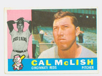1960 Topps Baseball 110 Cal McLish Cincinnati Reds Excellent