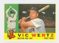 1960 Topps Baseball 111 Vic Wertz Boston Red Sox Excellent