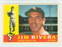 1960 Topps Baseball 116 Jim Rivera Chicago White Sox Excellent