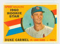 1960 Topps Baseball 120 Duke Carmel St. Louis Cardinals Excellent