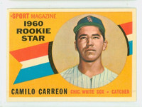 1960 Topps Baseball 121 Camillo Carreon Chicago White Sox Excellent