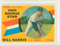1960 Topps Baseball 128 Bill Harris Los Angeles Dodgers Excellent