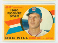1960 Topps Baseball 147 Bob Will Chicago Cubs Excellent
