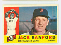 1960 Topps Baseball 165 Jack Sanford San Francisco Giants Excellent