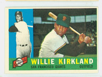 1960 Topps Baseball 172 Willie Kirkland San Francisco Giants Excellent