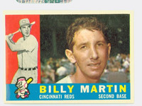 1960 Topps Baseball 173 Billy Martin Cincinnati Reds Excellent