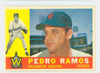 1960 Topps Baseball 175 Pedro Ramos Washington Senators Excellent
