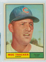 1961 Topps Baseball 12 Moe Thacker Chicago Cubs Near-Mint