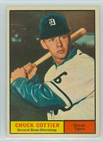 1961 Topps Baseball 13 Chuck Cottier Detroit Tigers Excellent to Mint