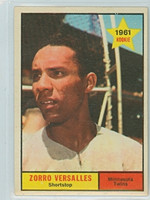 1961 Topps Baseball 21 Zoilo Versalles ROOKIE Minnesota Twins Excellent to Mint